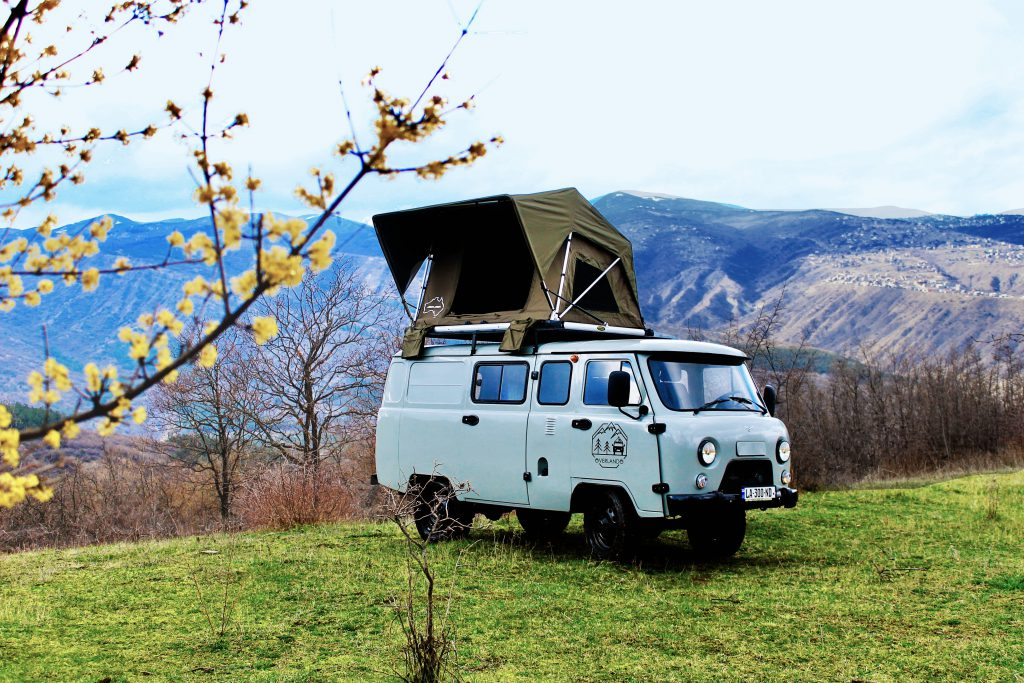 UAZ Buhanka with roof top tent